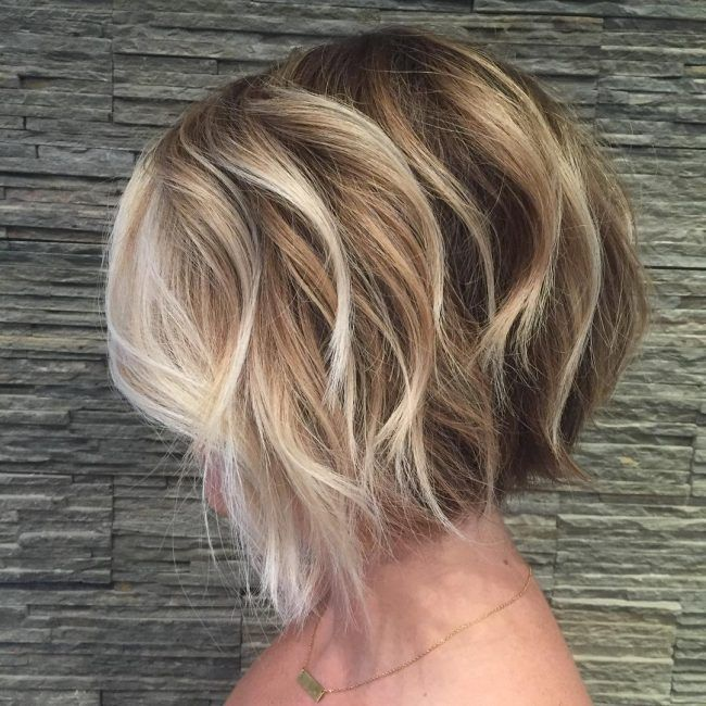 Textured Bob with Painted Highlights