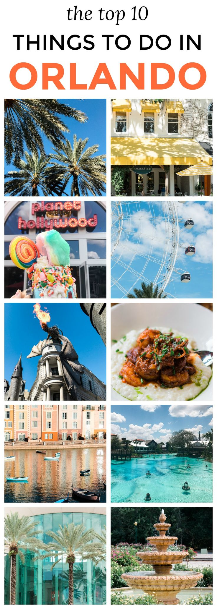 The top 10 things to do in Orlando, Florida!   Planning a trip to Orlando? I've rounded up the top 10 things to do in Orlando, Florida, that are guaranteed to make your trip a success. Whether you're moving to Orlando or just headed in on vacation, you will LOVE this list of fun activities in Orlando by Florida travel blogger Ashley Brooke Nicholas #CORTatHome sponsored by @cortfurniture affordable travel tips, orlando vacation tips, vacation tips, orlando eye, leu gardens, universal…