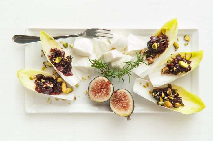 Endive Spears with Fig-Onion Jam - sub coconut palm sugar for brown sugar, use fresh figs
