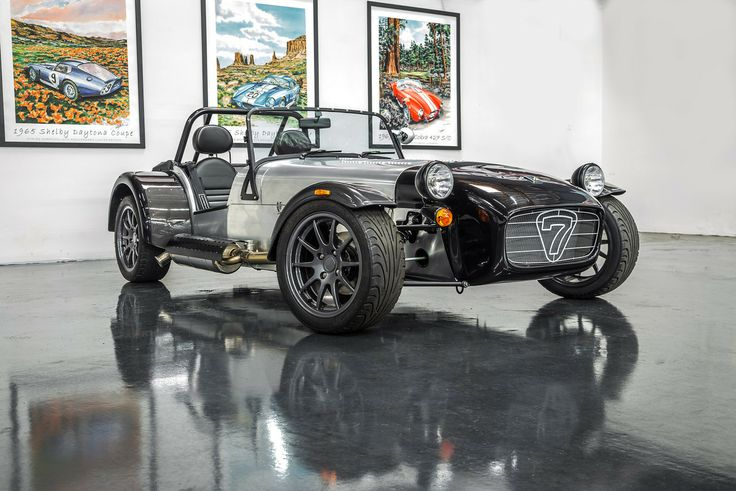 We love this bare aluminum and black color combination on the Caterham Seven 480.  These colors will be popular at Hillbank.