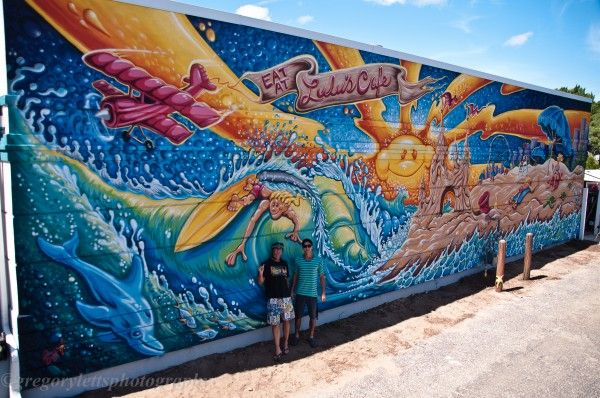 LULU's Cafe Mural Photo by Greg Letts | (c) Drew-Brophy and Ian Orsos Looks kinda like my sleeve minus the bright sun! Awesome!