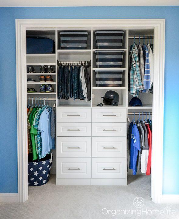 Tween Boy's Closet Reveal EasyClosets Review