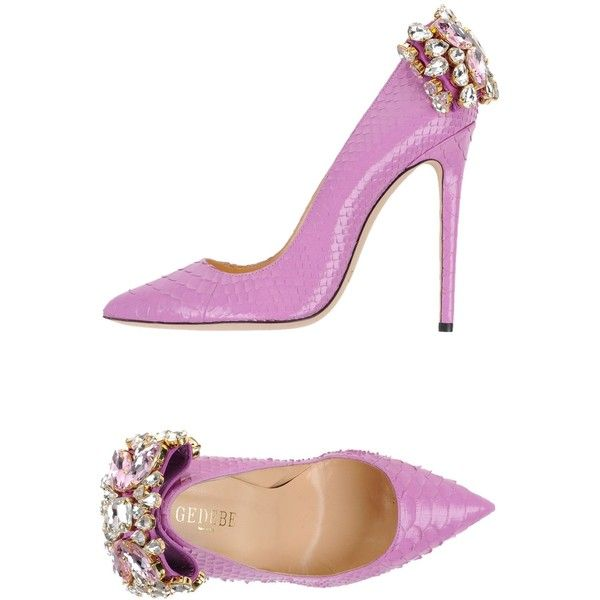 Gedebe Court found on Polyvore featuring polyvore, women's fashion, shoes, pumps, light purple, stiletto heel pumps, python print shoes, rhinestone pumps, leather sole shoes and lavender shoes