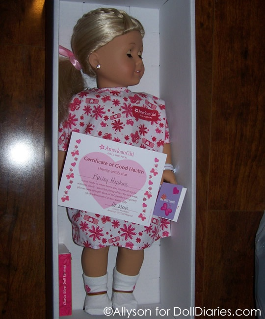 Kailey comes home from the American Girl Doll Hospital