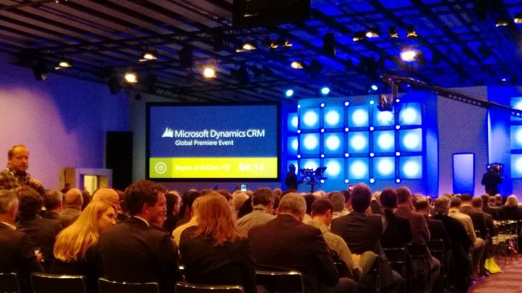 The room is packed and there is much excitement in the air at the Microsoft Dynamics #CRM2013 Global Launch starting now! #msdyncrm (16:44 4th Nov 2013)