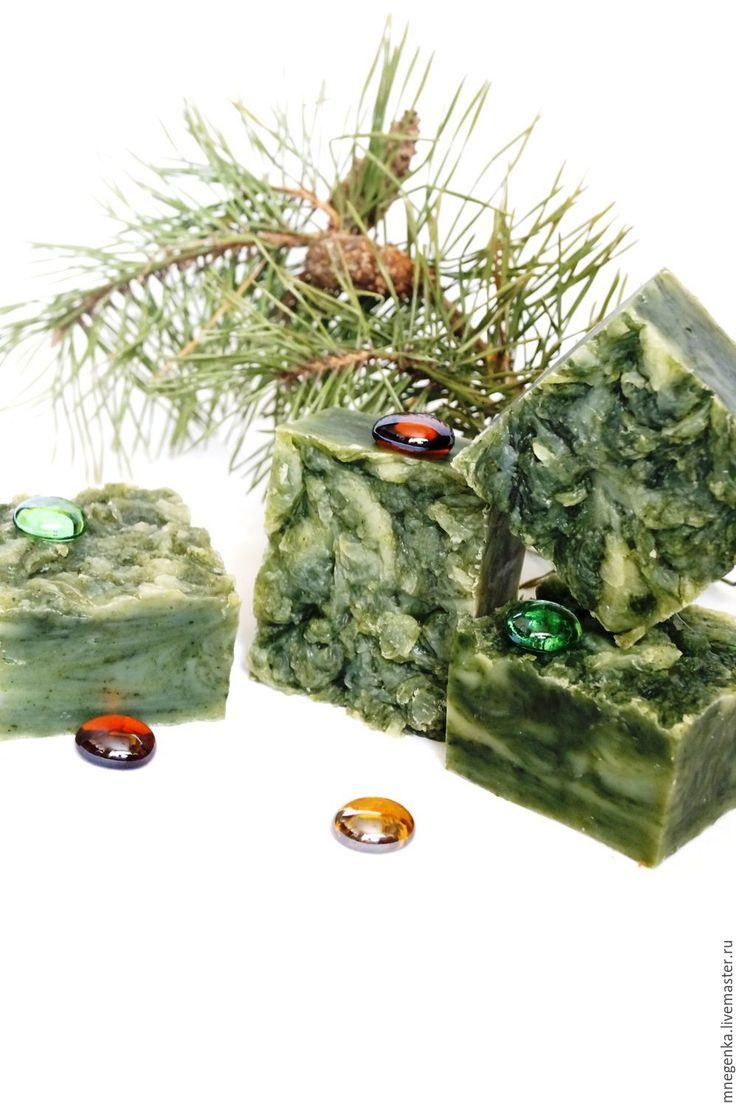 """Купить Натуральное мыло с нуля с водорослями """"Спирулина"""", мыло с нуля в интернет магазине на Ярмарке Мастеров"""