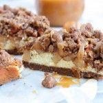 Appelkruimelcheesecake met salted caramel