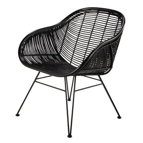 fauteuil en rotin noir pitaya pitaya noir et fauteuils. Black Bedroom Furniture Sets. Home Design Ideas