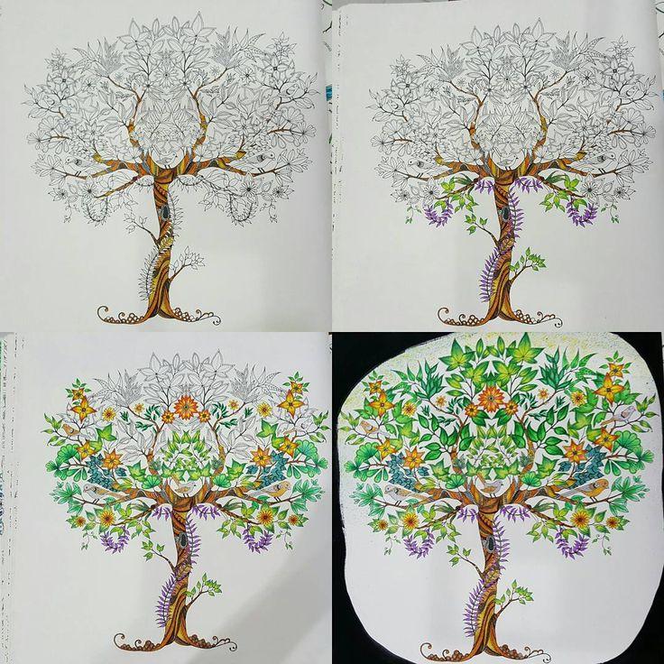 """#ceciliachong75 #coloringfun #johannabasford #secretgarden #secretgardenbook #colouring #jardimsecretoinspire #shadyas #秘密花园 #秘密花园"""