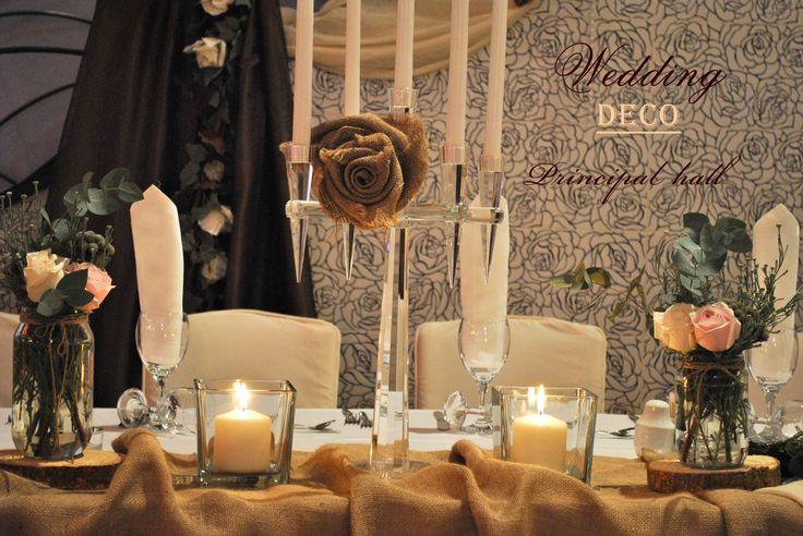 Wedding #groom & #bride table deco