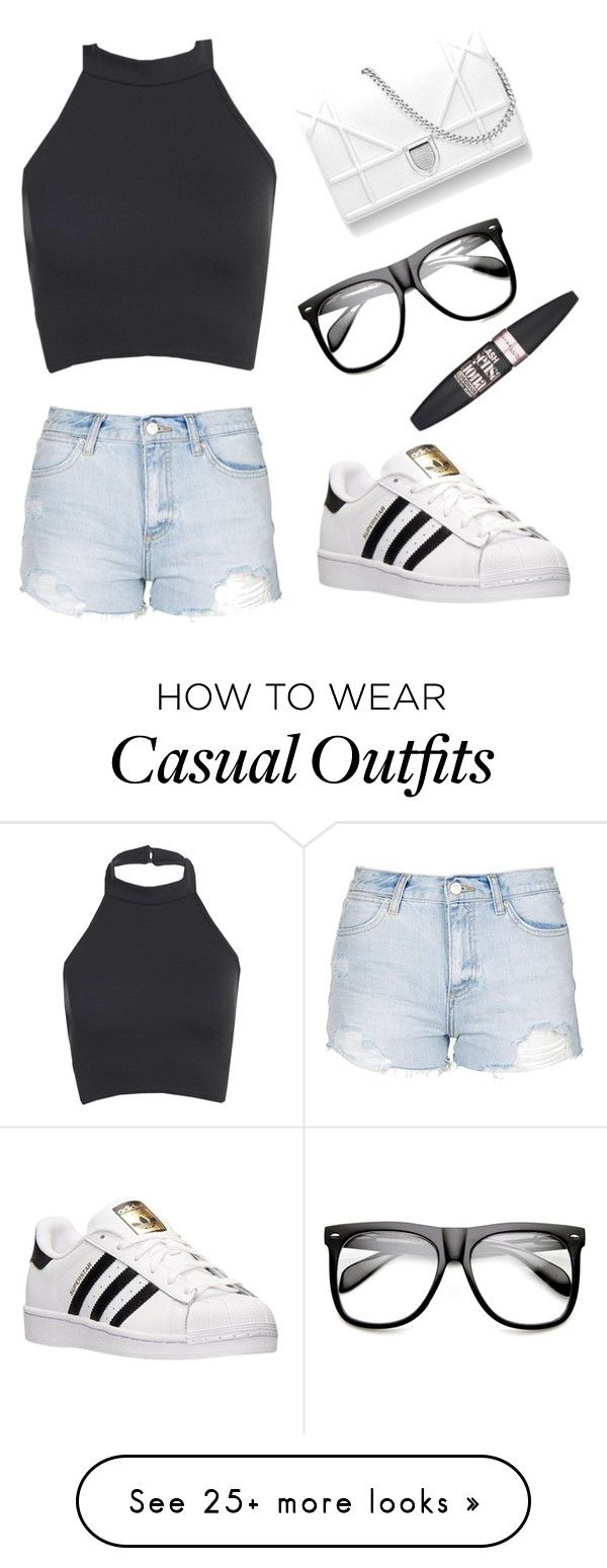 """""""Casual"""" by alexisssqueen on Polyvore featuring Topshop, adidas, ZeroUV and…"""