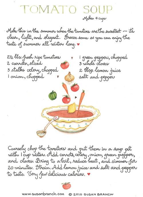 Tomato Soup via Susan Branch