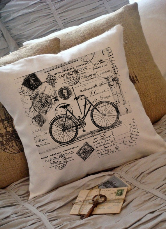 DIY Stamped Burlap Pillow Covers...of course!