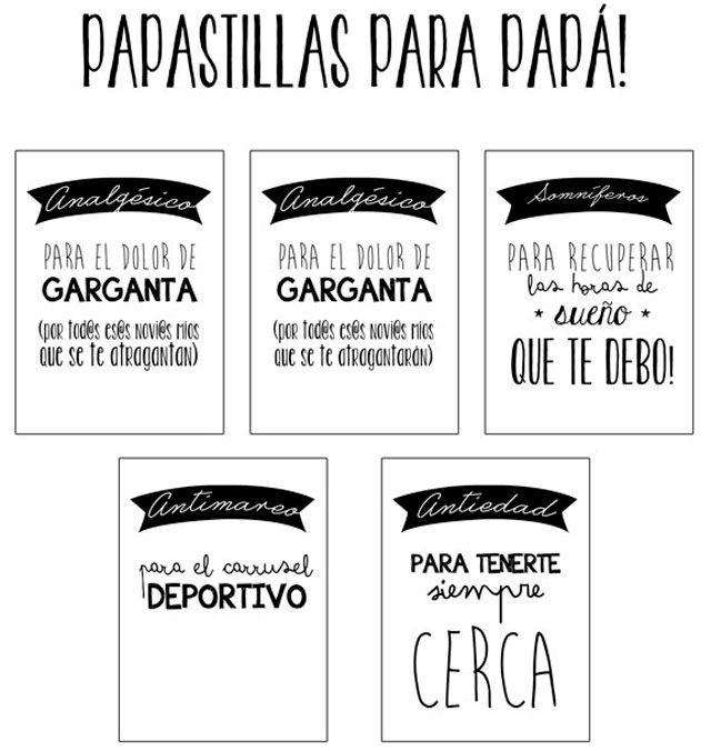 Papastillas para el Día del Padre (imprimible gratuito)