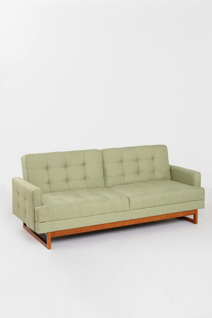 Either or convertible sofa urban outfitters blue colors for Low level sofa bed