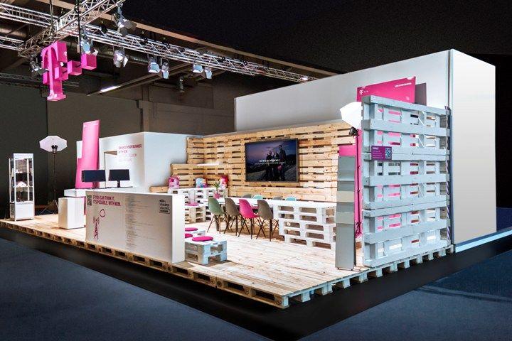 Exhibition Stand Design Germany : Deutsche telekom stand by hartmannvonsiebenthal nuremburg