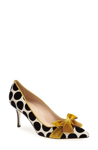 Free shipping and returns on Manolo Blahnik 'Contina' Pump (Women) at Nordstrom.com. Bold dots and a sleek velvet bow provide eclectic updates for a streamlined pointy-toe pump.