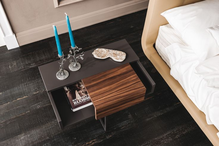 Dante is an ultra - modern nightstand that is suitable with any bedroom design