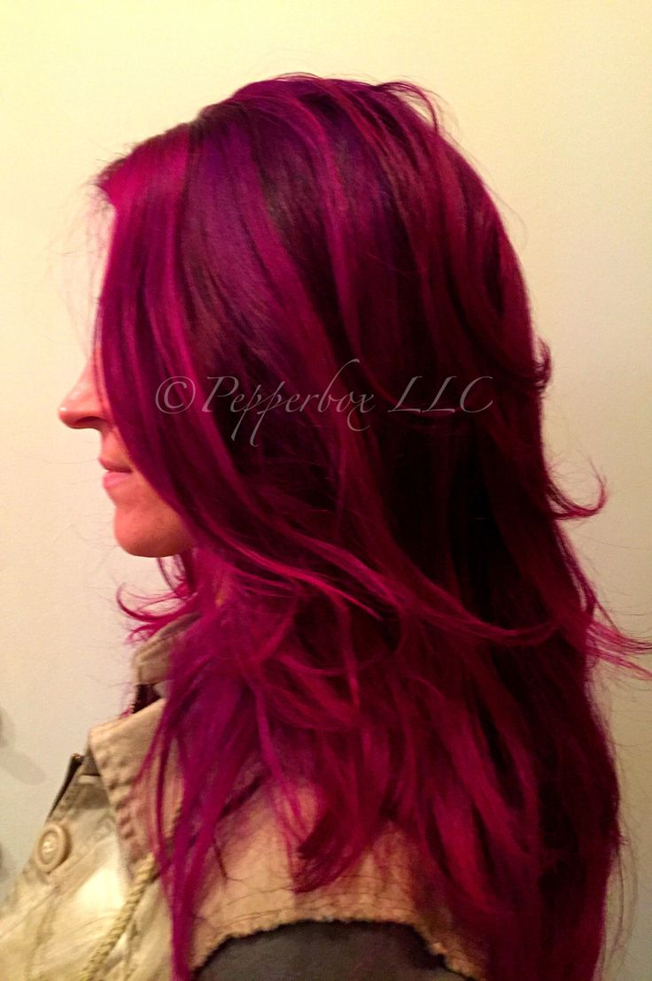 Hair Color By Sara Reed Using Pravana Vivids Wild Orchid Magenta And Violet