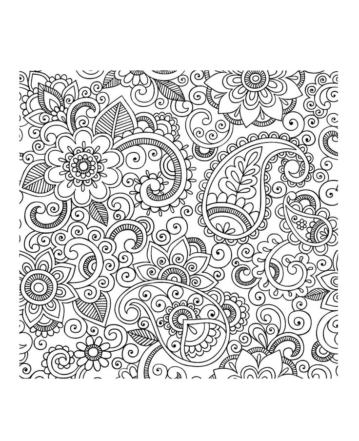 135 best Paisley colouring patterns images on Pinterest   Coloring ...