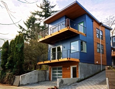 Seattle LEED House - Prefab Construction #LEED