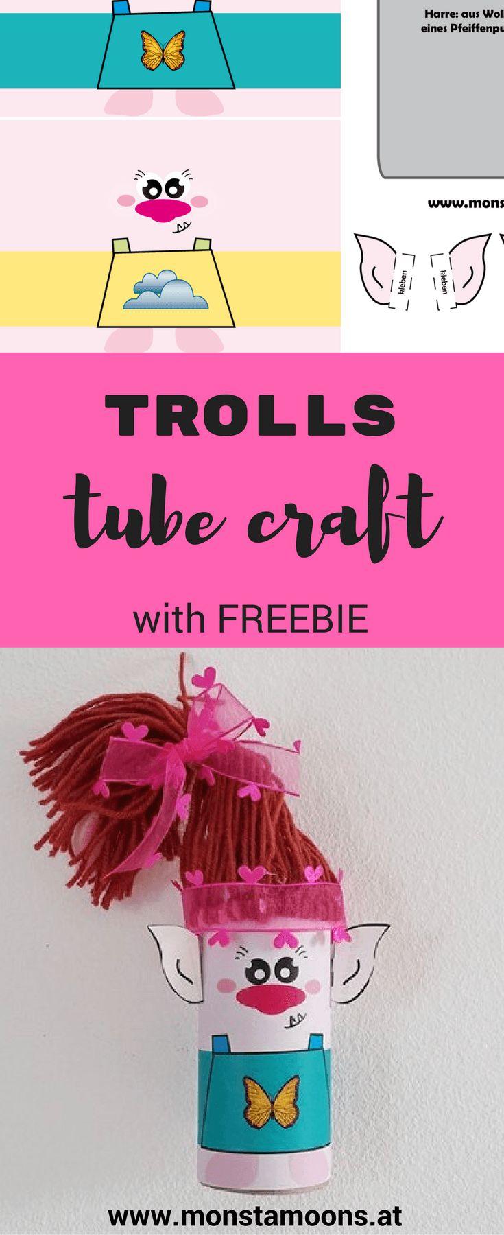 paperroll crafts, Basteln mit Klopapierrollen, Troll basteln, craft a troll, Trolls, paperroll Troll, Klopapierrollen Troll