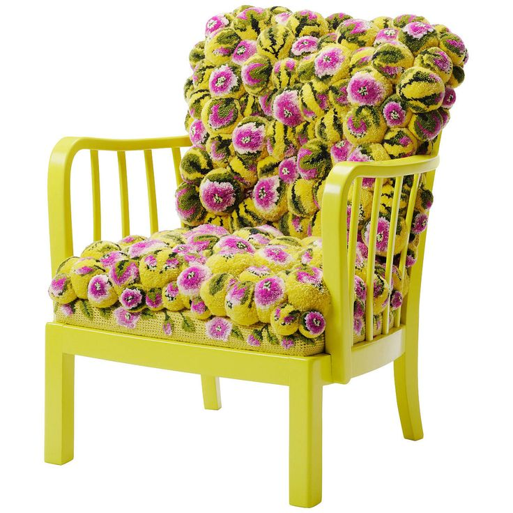 Pompon Chair by Myra Klose