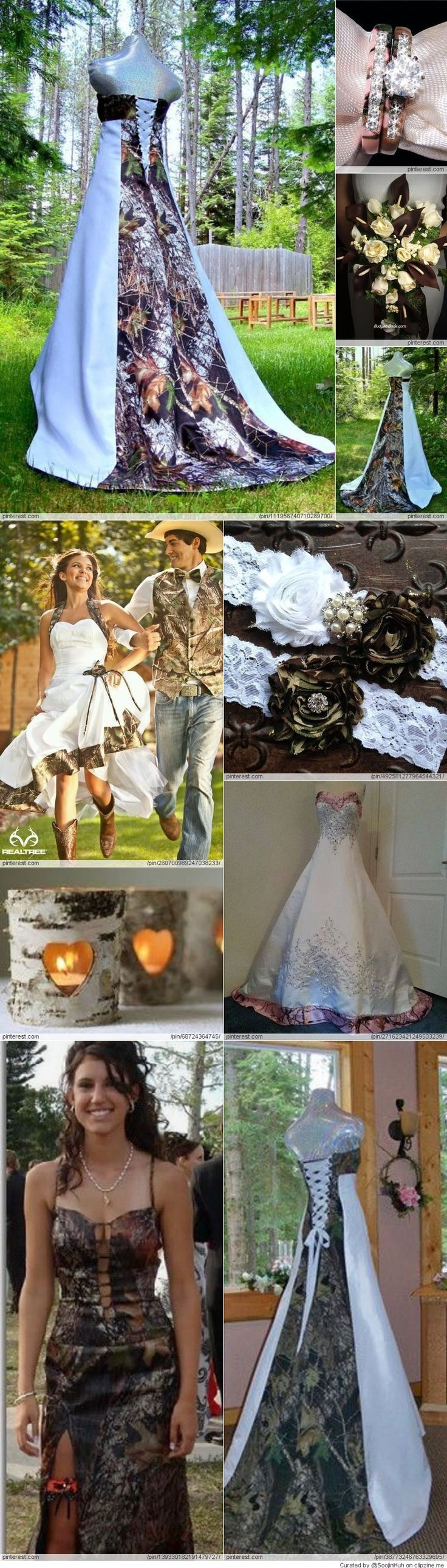 A very camo wedding! #camo #love #countrygirl For more Cute n' Country visit: www.cutencountry.com and www.facebook.com/cuteandcountry