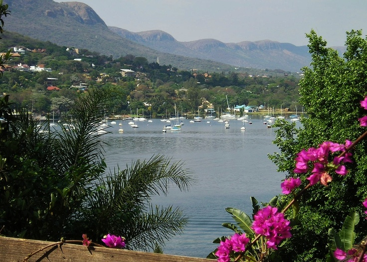 Hartbeespoort Dam and Magalies Mountains, North West Province, South Africa