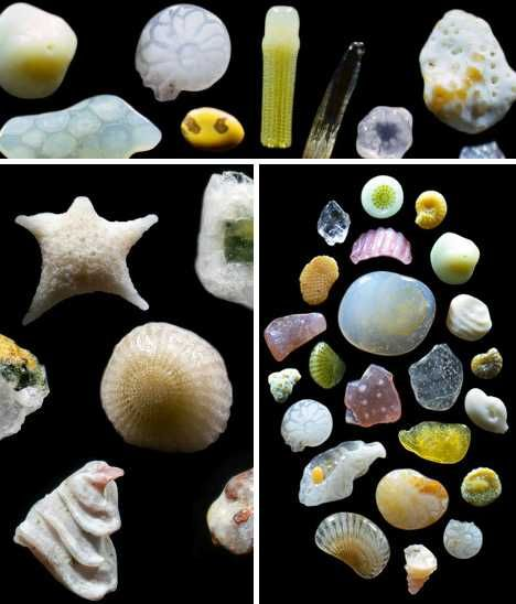 A highly magnified picture of sand