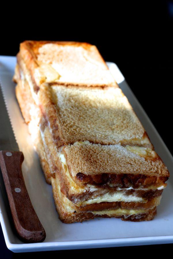 Mon cake croque-monsieur, à tomber! | Cuisine en scène - CotéMaison.fr