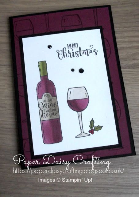Paper Daisy Crafting: Christmas cards with Half Full from Stampin' Up!