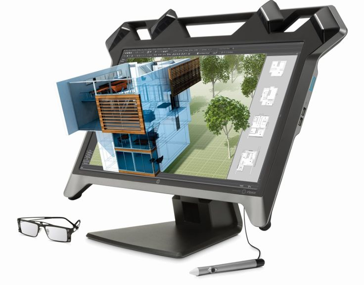 CES 2015 - HP Zr Virtual Reality Display. This 23.6-inch desktop monitor lets you view 3D images and rotate, manipulate, or navigate them in three dimensions. HP is also using these virtual reality 3D monitors to get ready for a bigger presence in the 3D prototype printing market