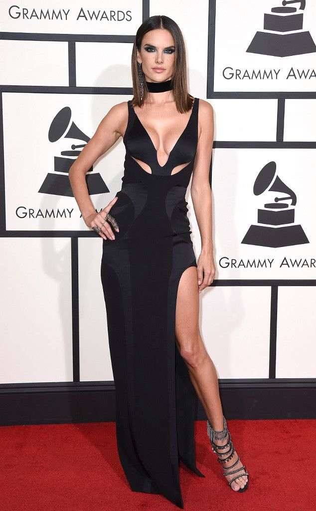 Alessandra Ambrosio from Grammys 2016: Red Carpet Arrivals | E! Online