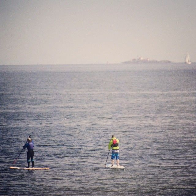 Stand up paddle boarding in Departure Bay, Nanaimo, British Columbia