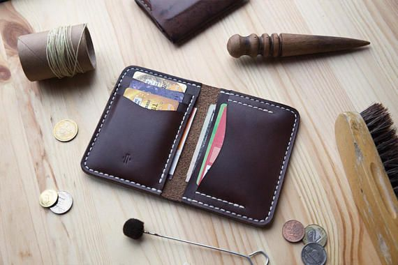 Horween Mens Bifold Wallet Men's Leather Wallet