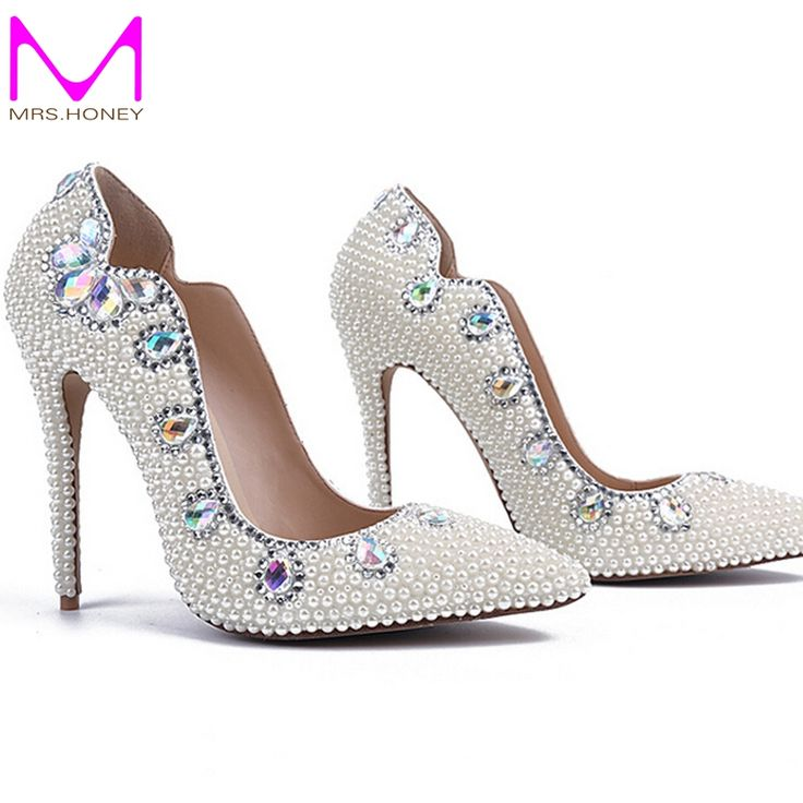 Find More Women's Pumps Information about Free Shipping Size 34 41 Women  Pearl Wedding Shoes Pointed Toe Genuine Leather Comfortable Bridal Dress  Shoes ...