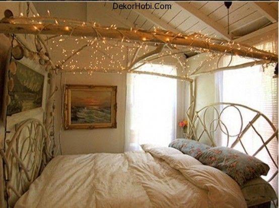 48 Romantik Yatak Odası Aydınlatma Fikirleri   DekorHobi.Com