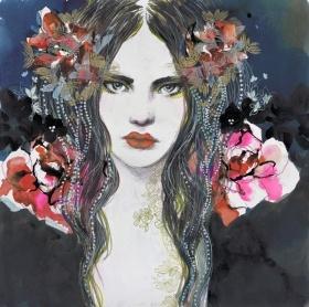 24 vous présente Wild d'Elise Demozay : Elise est une dessinatrice dont le talent prend toute sa force au contact de l'encre. Les couleurs profondes contrastent avec les visages diaphanes de ses mystérieuse beautés féminines. Les entrelacs d'encres aux allures psychédéliques nous ramènent au temps du rock de Janis Joplin quand l'excès et la fureur étaient un art de vivre.