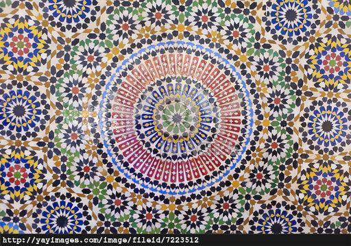 Arabic architecture ceramic mosaic