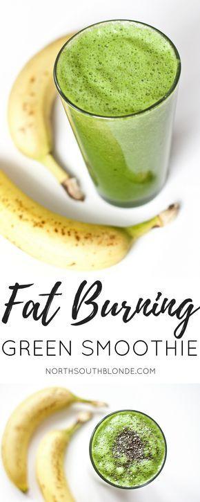 Fettverbrennender grüner Smoothie (nach dem Training, glutenfrei, vegan, Paleo)