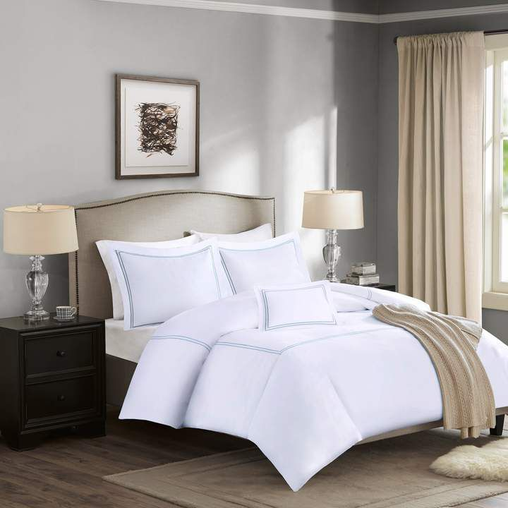 Madison Home USA Signature 1000 Thread Count Embroidered Cotton 5-piece Bed Set