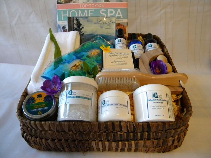 Relax & Renew Spa Gift Basket: If you feel tired and worn out, these energizing spa gifts of aromatherapy bath and body products and accessories will help to relax and combat your physical and mental exhaustion and revitalize your spirit as well. Take time to generate positive energy and savor this uplifting and therapeutic experience.  http://www.blissfulbalance.com/relax-renew-spa-gift-basket/