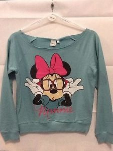 Maglietta felpa cotone ragazza donna Minnie vintage Walt Disney taglia S | eBay