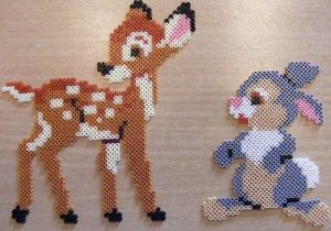 Bambi and Thumper made with Hama beads by ki-vi by bethina.kristensen.10