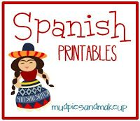 Spanish Printables. Website has LOTS of free printables for class decorations! #spanish