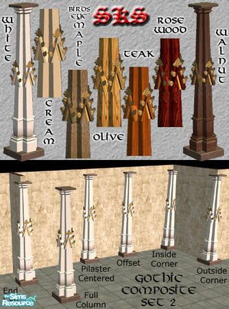 71robert13's Gothic Square Composite Columns-Pediment set