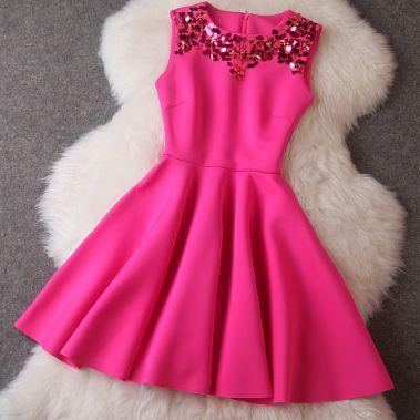1000  ideas about Neon Pink Dresses on Pinterest - Lace dresses ...
