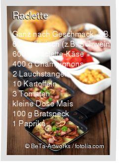 Leckeres Raclette Rezept mit einfacher Schritt-für-Schritt-Anleitung: Kartoffeln kochen , Gemüse in feine Stücke schneiden und in Schüsseln anrichten …   – Jessica Boden
