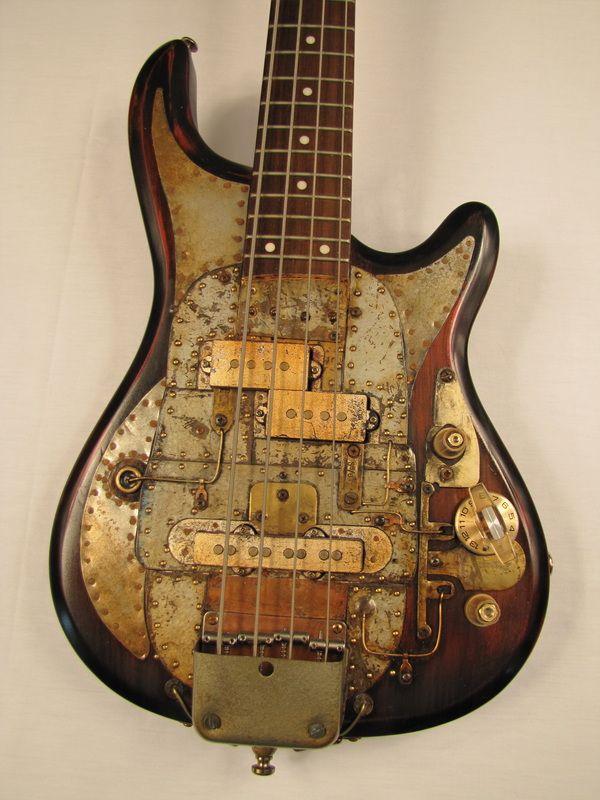 Greyhoundcaster Bass guitar   ------- #guitar #steampunk